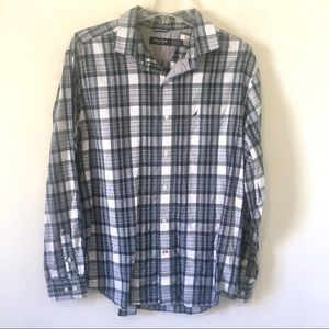 NAUTICA Plaid Button Down Shirt Size Large